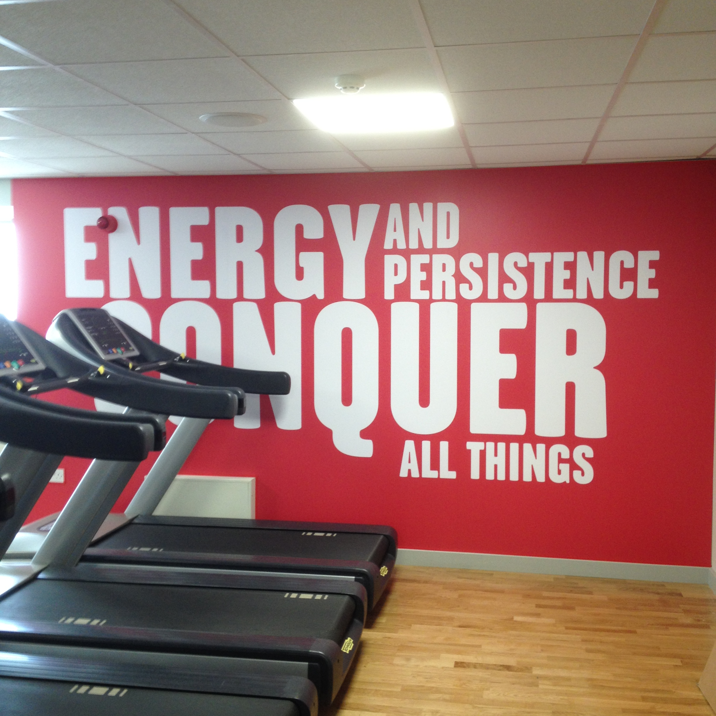 wall art graphics in gym