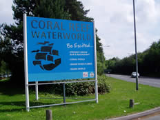 coral reef corporate signage